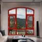 佛山豪华意式纱窗一体化平开窗80非断桥1.5双色平开窗(带纱窗)